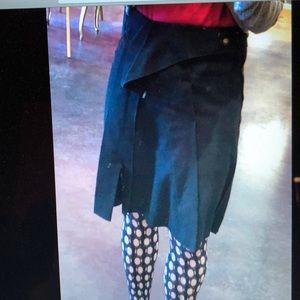 Bottega Veneta Skirts - Bottega Veneta black felted cashmere skirt 40 4